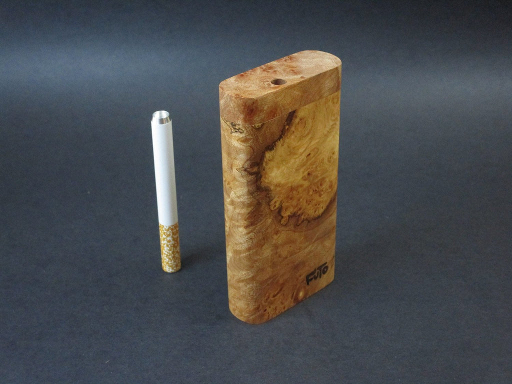 Futo X - BC Burl - One Hitter Box - Dugout - With Poker Tool - Made in Canada