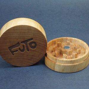 Futo Maple Grinder - Solid Exotic Wood - CNC Machined - Made in Canada