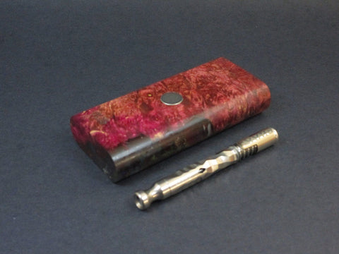 Galaxy Burl FutoStash #40 - Stabilized Burl  - Vaporizer Case - DynaVap - Numbered Set - Made in Canada