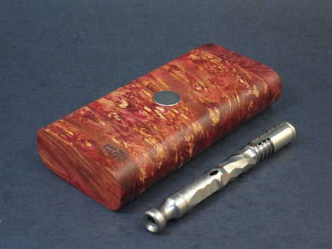 Galaxy Burl FutoStash #60 - Stabilized Burl  - Vaporizer Case - DynaVap - Numbered Set - Made in Canada