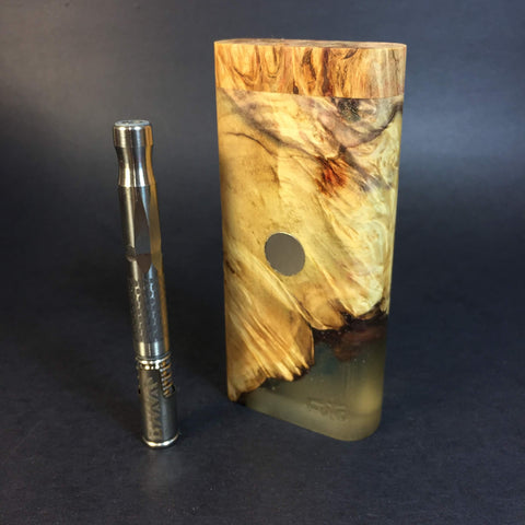 Galaxy Burl FutoStash #1111 - Stabilized Boxelder Burl & Resin - DynaVap Stash