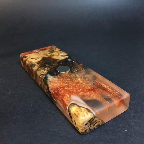 Resin River FutoStash SXL #1116 - Burl Wood & Resin - DynaVap Stash
