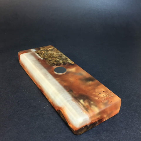Resin River FutoStash SXL #1119 - Burl Wood & Resin - DynaVap Stash