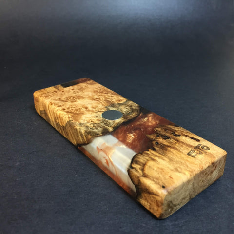 Resin River FutoStash SXL #1123 - Burl Wood & Resin - DynaVap Stash