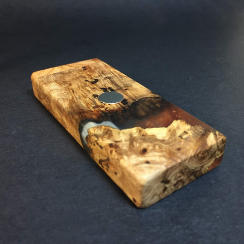 Resin River FutoStash S #1126 - Burl Wood & Resin - DynaVap Stash