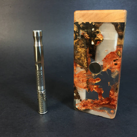 Resin River FutoStash S #1129 - Burl Wood & Resin - DynaVap Stash