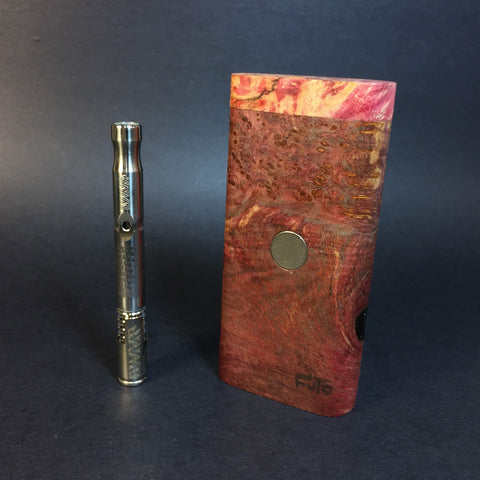 Galaxy Burl FutoStash #1136 - Stabilized Boxelder Burl - DynaVap Stash