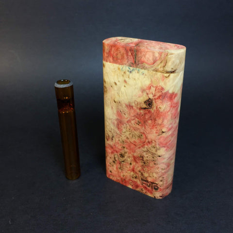 Galaxy Burl Dugout #371 - Futo Model GX -Stabilized Boxelder Burl  - Glass One Hitter Box