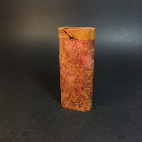 Galaxy Burl Dugout #360 - Futo Model M - Stabilized Burl Wood & Resin - One Hitter Box