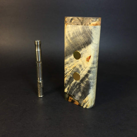 Galaxy Burl XL G2 FutoStash #1145  - Holds 2 Vaporizers - Stabilized Boxelder Burl - DynaVap Stash