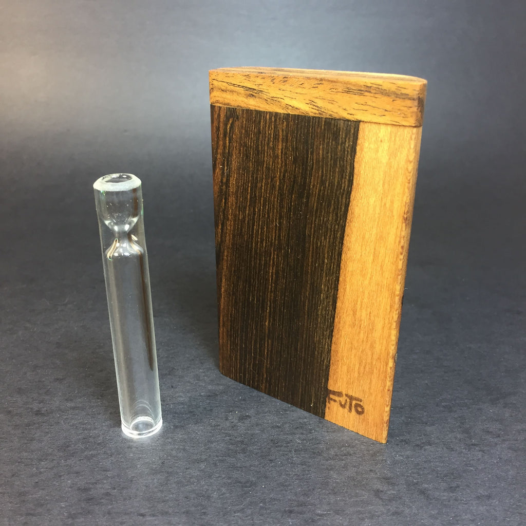 Futo GX - Live Edge Bocote Dugout - One Hitter Box - 12mm Glass