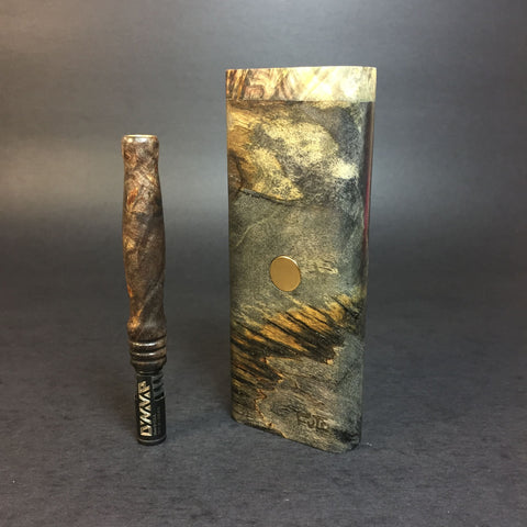 Galaxy Burl XL FutoStash #1170 - Gold Magnet - Stabilized Boxelder Burl - DynaVap Stash