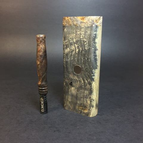 Galaxy Burl XL FutoStash #1171 - Stabilized Boxelder Burl - DynaVap Stash