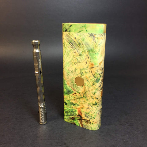 Galaxy Burl XL FutoStash #1188 - Gold Magnet - Stabilized Boxelder Burl - DynaVap Stash