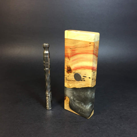 Resin River FutoStash SXL #1196 - Boxelder & Resin - DynaVap Stash