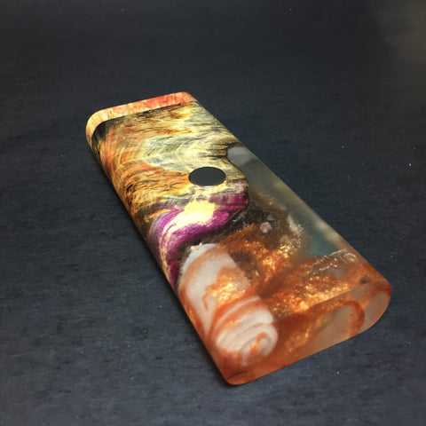 "Galaxy Burl XL FutoStash #1214 - ""Liquid Gold"" - Black Magnet - Stabilized Boxelder Burl - DynaVap Stash"