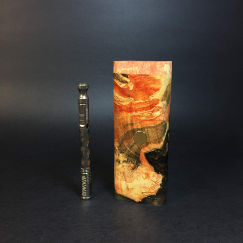 Galaxy Burl XL FutoStash #1215 - Gold Magnet - Stabilized Boxelder Burl - DynaVap Stash