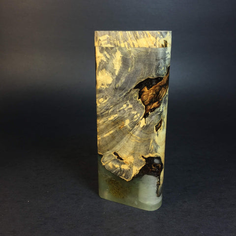 Galaxy Burl XL FutoStash #1218 - Gold Magnet - Stabilized Boxelder Burl - DynaVap Stash