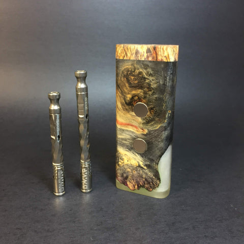 Galaxy Burl XL G2 FutoStash #1224 - Stabilized Boxelder Burl - DynaVap Stash