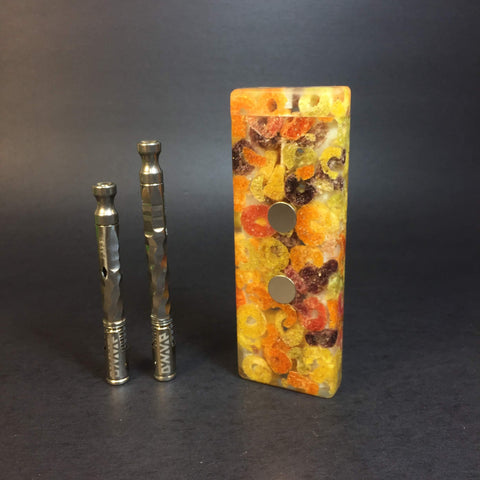 FrootyStash SXL G2 - Made from Froot Loops & Resin - DynaVap Stash