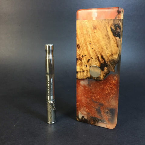 Resin River FutoStash SXL #1118 - Burl Wood & Resin - DynaVap Stash