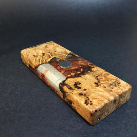 Resin River FutoStash SXL #1121 - Burl Wood & Resin - DynaVap Stash