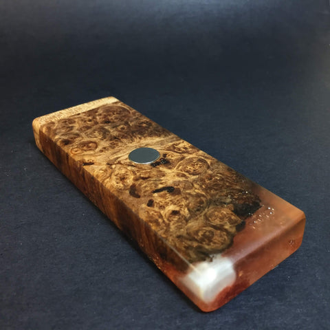 Resin River FutoStash SXL #1122 - Burl Wood & Resin - DynaVap Stash