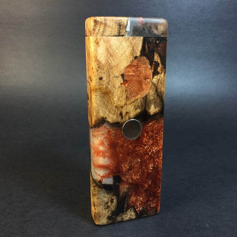 Resin River FutoStash SXL #1125 - Burl Wood & Resin - DynaVap Stash