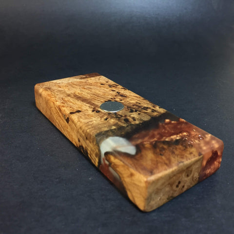 Resin River FutoStash S #1127 - Burl Wood & Resin - DynaVap Stash