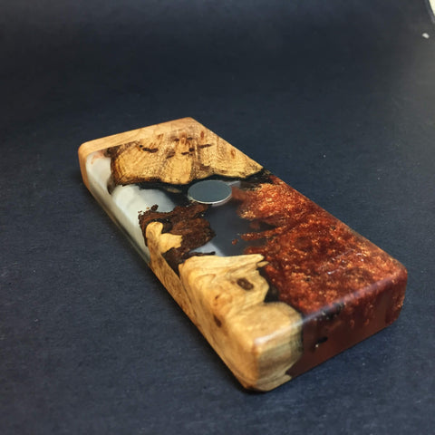 Resin River FutoStash S #1128 - Burl Wood & Resin - DynaVap Stash