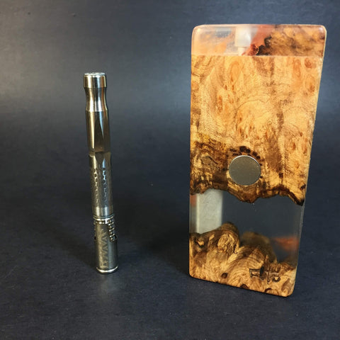 Resin River FutoStash S #1130 - Burl Wood & Resin - DynaVap Stash