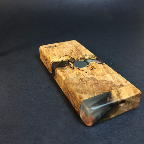 Resin River FutoStash S #1131 - Burl Wood & Resin - DynaVap Stash