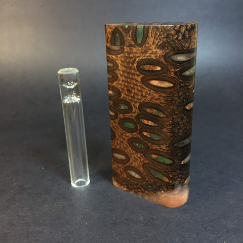 Alien Pod Dugout #343 - Futo Model GX - Stabilized Alien Pod - Dugout - Glass One Hitter - Glow in the Dark