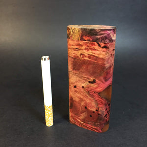 Galaxy Burl Dugout #347 - Futo Model M - Stabilized Burl Wood & Resin - One Hitter Box