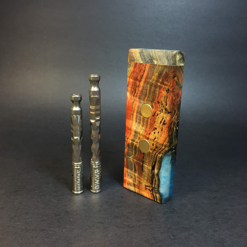 Galaxy Burl SXL G2 FutoStash #1227 - Gold Magnets - Stabilized Boxelder Burl - DynaVap Stash