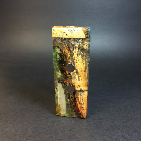 Galaxy Burl SXL G2 FutoStash #1232 - Black Magnets - Stabilized Boxelder Burl - DynaVap Stash