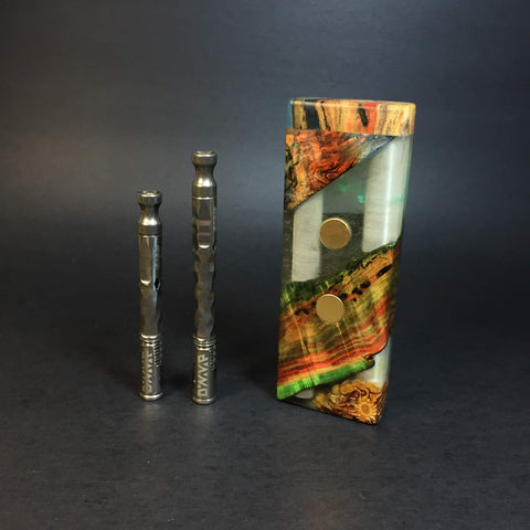 "Galaxy Burl SXL G2 FutoStash #1236 - ""Rainbow Chasm"" - Gold Magnets - Stabilized Boxelder Burl - DynaVap Stash"