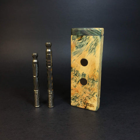 Galaxy Burl SXL G2 FutoStash #1238 - Black Magnets - Stabilized Boxelder Burl - DynaVap Stash