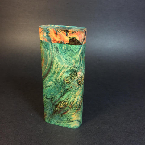 Galaxy Burl Dugout #364 - Futo Model M - Stabilized Burl Wood & Resin - One Hitter Box