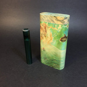 Galaxy Burl Dugout #372 - Futo Model GX -Stabilized Boxelder Burl  - Glass One Hitter Box