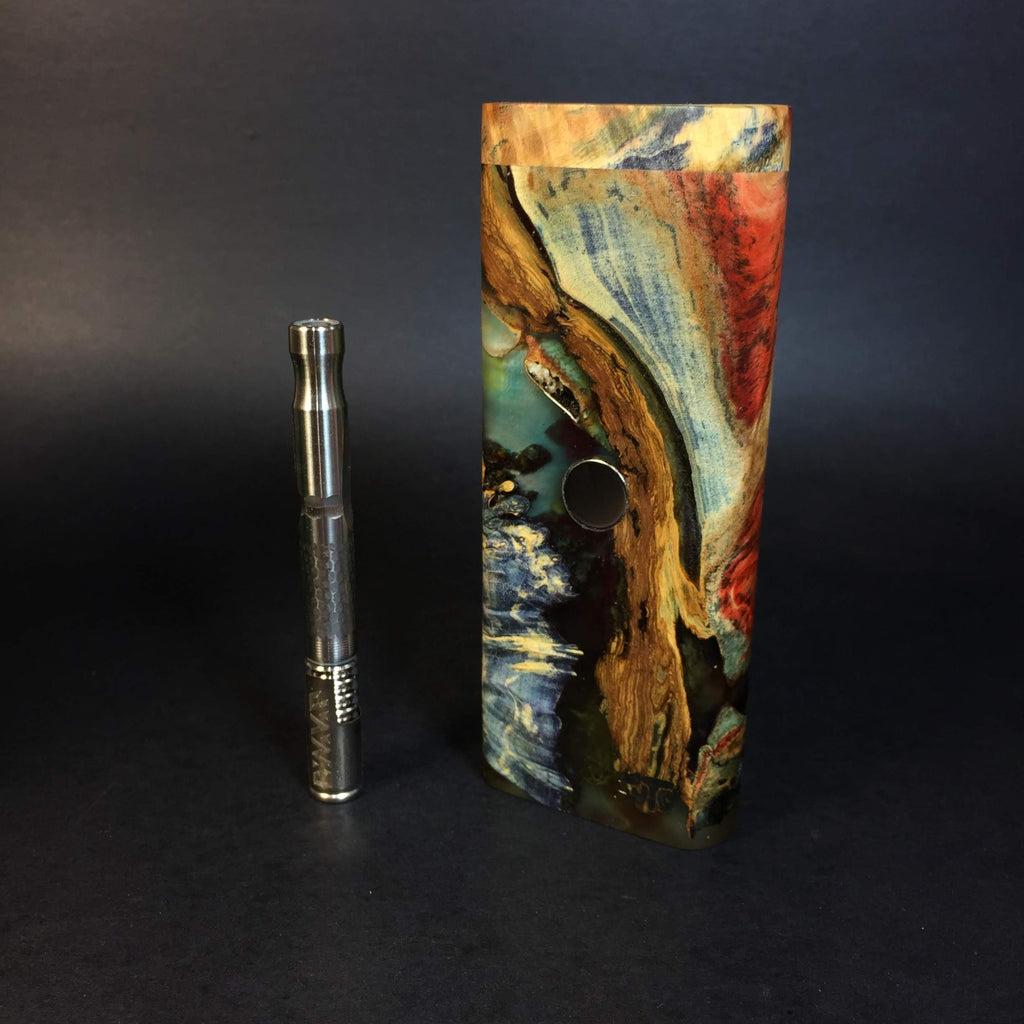 "Galaxy Burl ""Sea Monster"" XL FutoStash #1151 - Stabilized Boxelder Burl - DynaVap Stash"