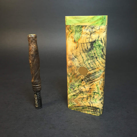 Galaxy Burl XL FutoStash #1177 - Gold Magnet - Stabilized Boxelder Burl - DynaVap Stash