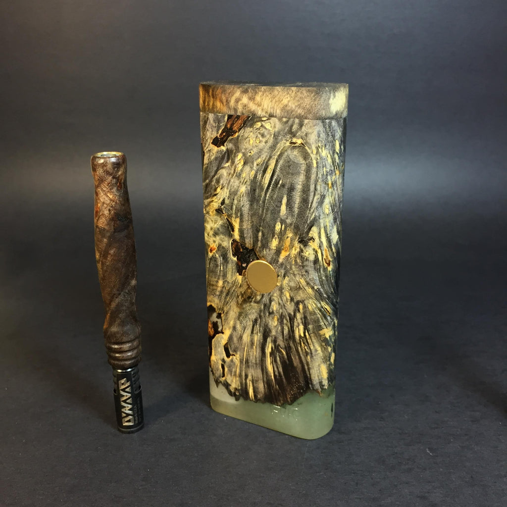 Galaxy Burl XL FutoStash #1185 - Gold Magnet - Stabilized Boxelder Burl - DynaVap Stash
