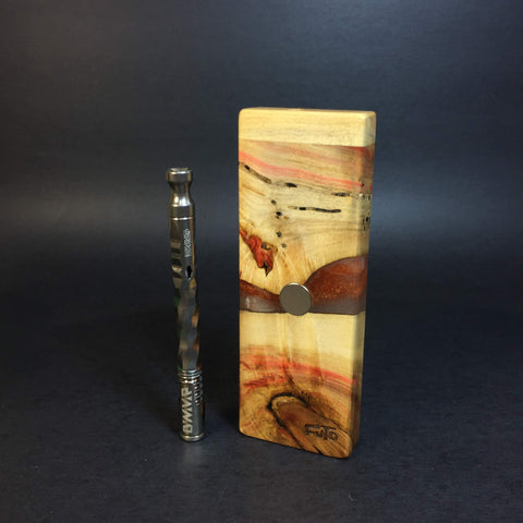 Resin River FutoStash SXL #1190 - Boxelder & Resin - DynaVap Stash