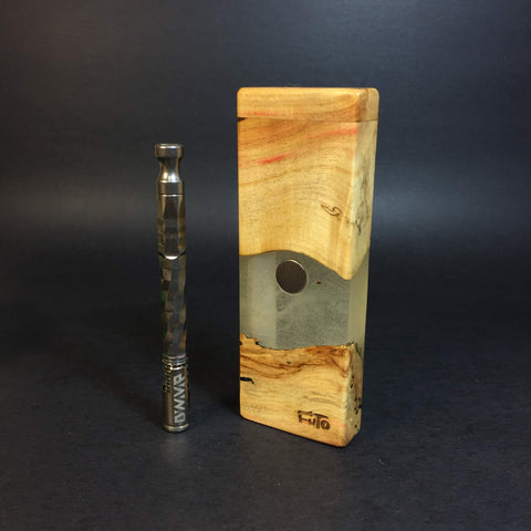 Resin River FutoStash SXL #1192 - Boxelder & Resin - DynaVap Stash