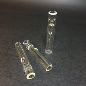 Clear Glass - Shotties - 12mm Glass One Hitters - with Carb