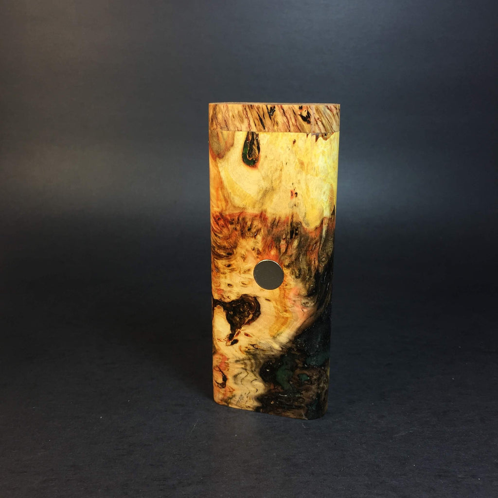 Galaxy Burl XL FutoStash #1219 - Black Magnet - Stabilized Boxelder Burl - DynaVap Stash