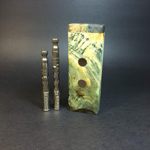 Galaxy Burl SXL G2 FutoStash #1228 - Black Magnets - Stabilized Boxelder Burl - DynaVap Stash