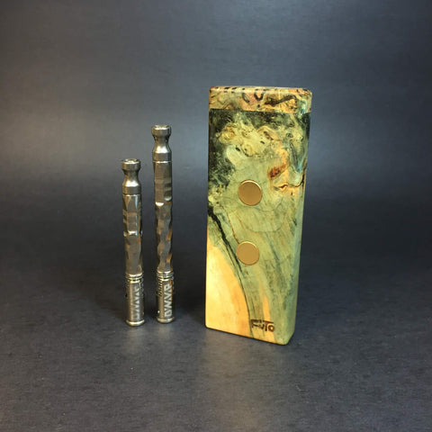 Galaxy Burl SXL G2 FutoStash #1229 - Gold Magnets - Stabilized Boxelder Burl - DynaVap Stash