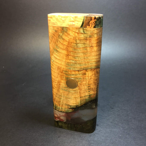 Galaxy Burl XL FutoStash #1279 - Stabilized Boxelder Burl - DynaVap Stash